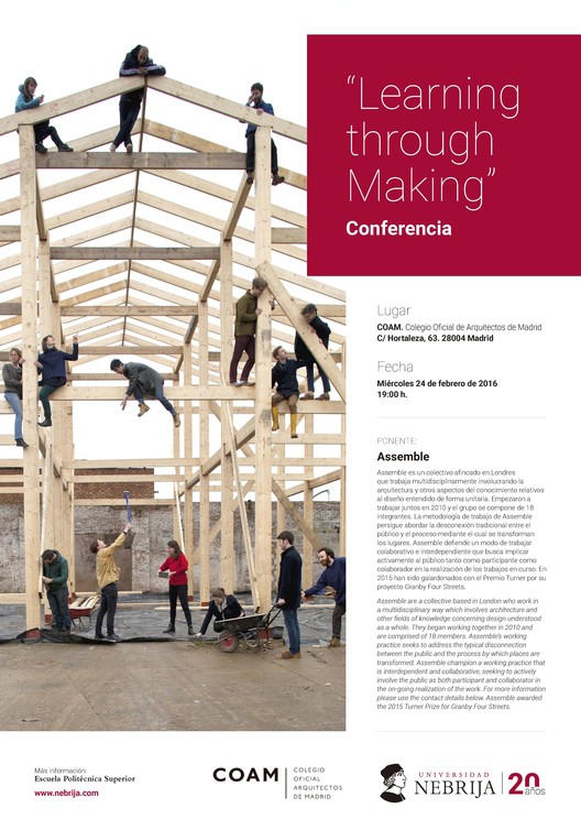 "Conferencia: ""Learning through Making"" por Assemble con la Universidad Nebrija y el COAM"