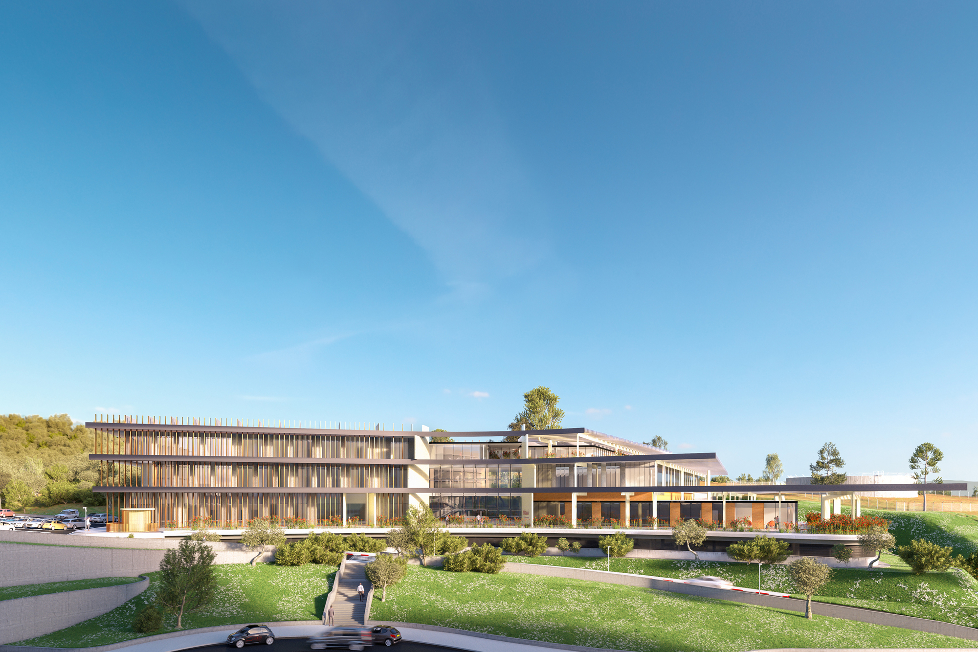 Front Elevation Software : Ron arad to break ground on israeli cancer center in afula