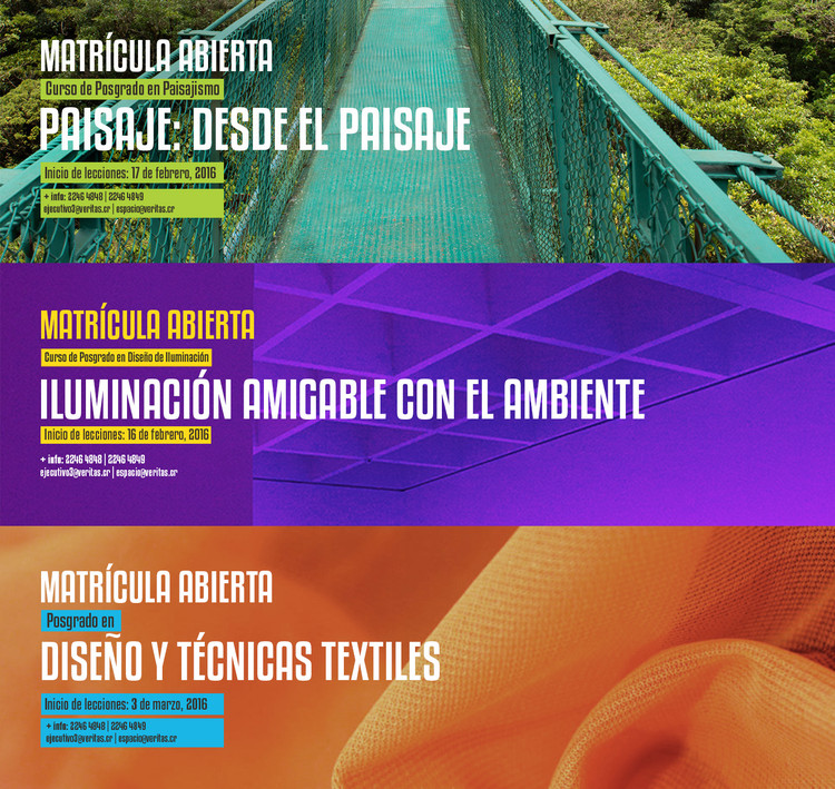 Posgrados en la Universidad Veritas de Costa Rica: Paisajismo, Iluminación y Diseño & Técnicas Textiles, Cortesía de Universidad Veritas