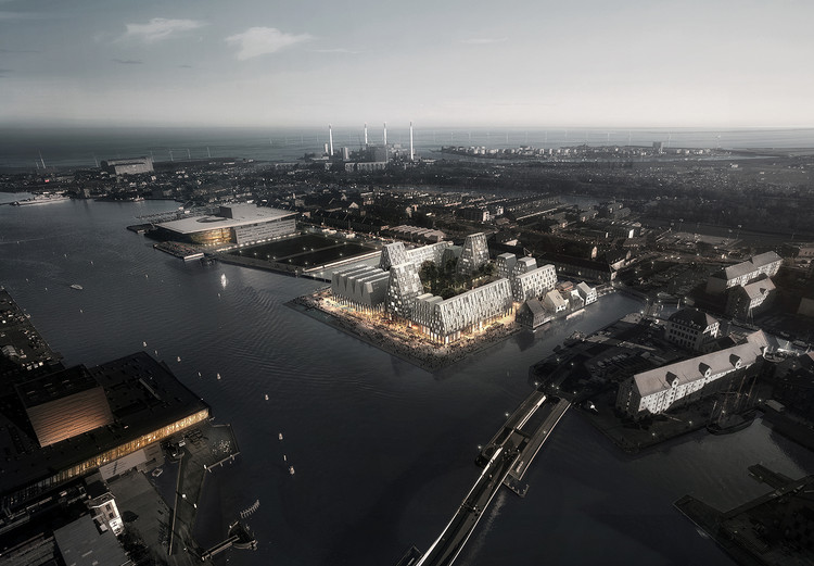 COBE Chosen to Develop Christiansholm Island in Copenhagen, © COBE and Luxigon