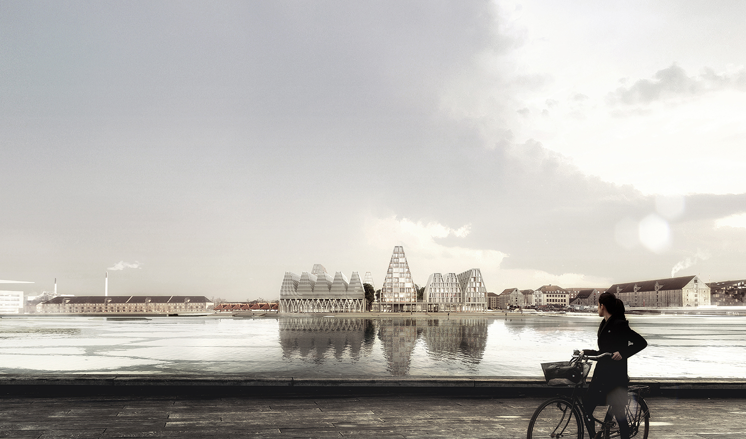Gallery of cobe chosen to develop christiansholm island in for Island copenhagen
