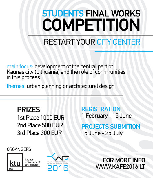 Open Call: International Student Competition 'Restart your City Center'