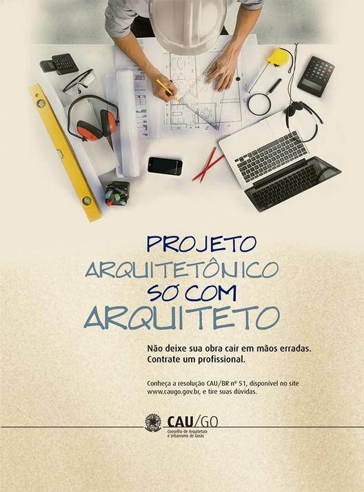"""CAU/GO inicia campanha """"Projeto arquitetônico, só com arquiteto"""" em rádio de Goiânia, Cortesia de CAU/GO"""