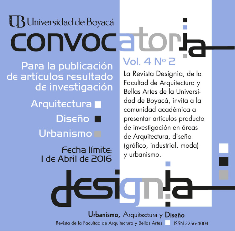 Call for Papers: Revista Designia
