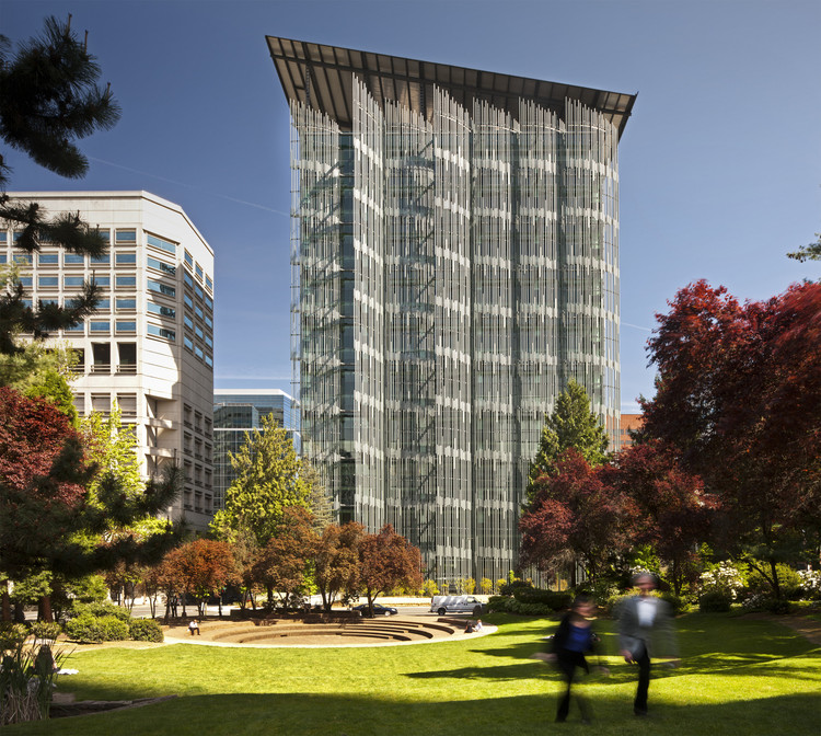 AIA Survey Shows that Non-Residential and Sustainable Construction Are Increasing, Edith Green-Wendell Wyatt (EGWW) Federal Building Modernization; Portland, Oregon / SERA Architects with Cutler Anderson Architects. Image © Nic Lehoux