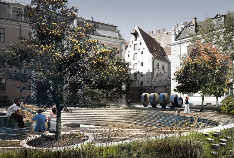 U-R-A's Alberta Square Renovation in Latvia Evokes Maritime and Beverage History, Courtesy of U-R-A