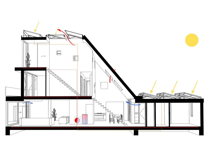Casa en una casa global architects archdaily colombia for Atrio dentro casa