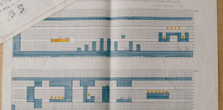 These Sheets of Graph Paper Were Used to Design Super Mario