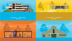 Archicartoon: Ilustraciones inspiradas en dibujos animados por Mário Rúbio