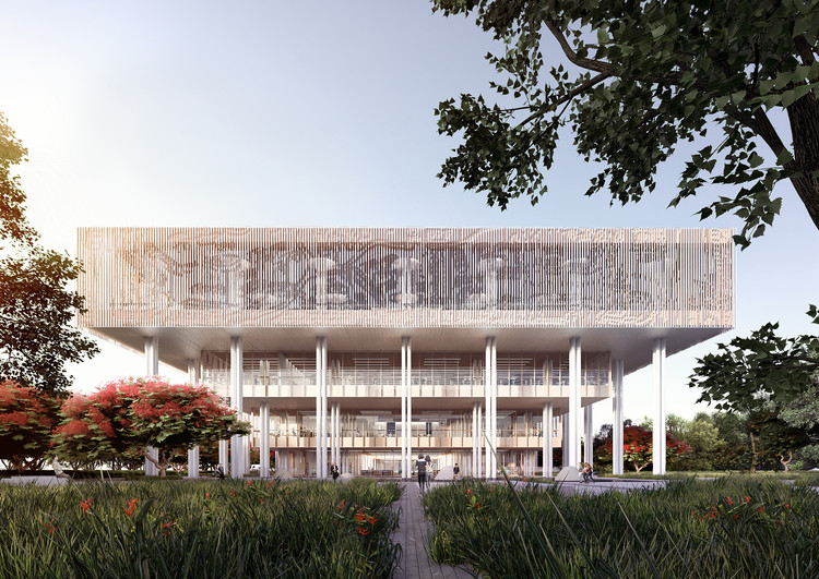 Mecanoo Wins Competition to Design Tainan Public Library, South East Facade. Image © Mecanoo architecten