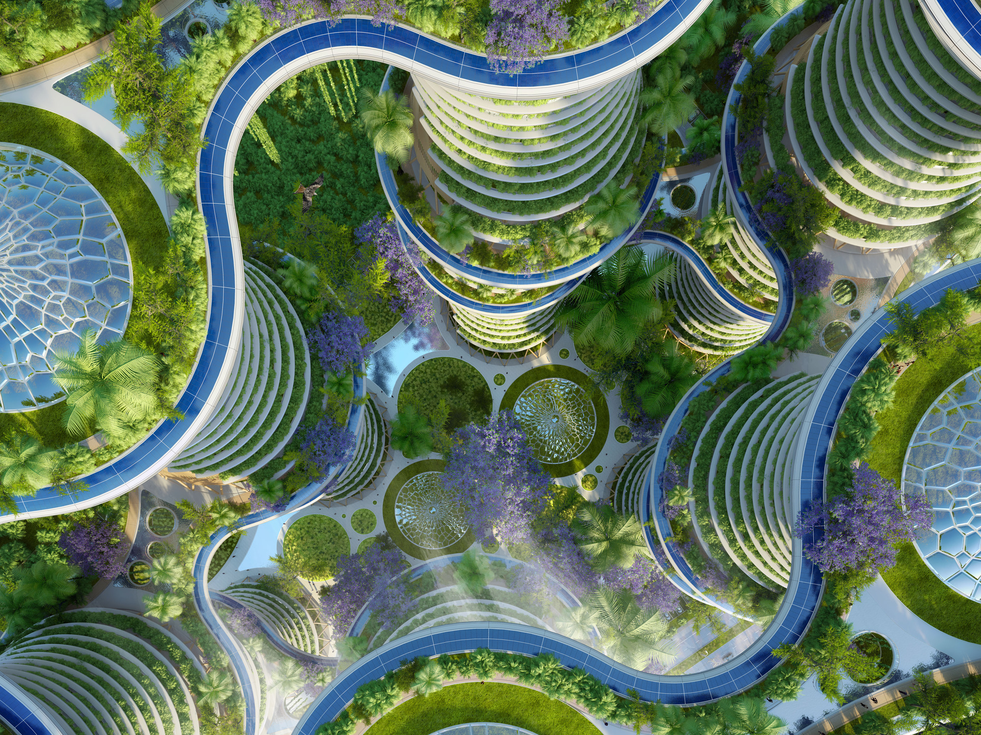 Roof Design Ideas: Gallery Of Vincent Callebaut's Hyperions Eco-Neighborhood