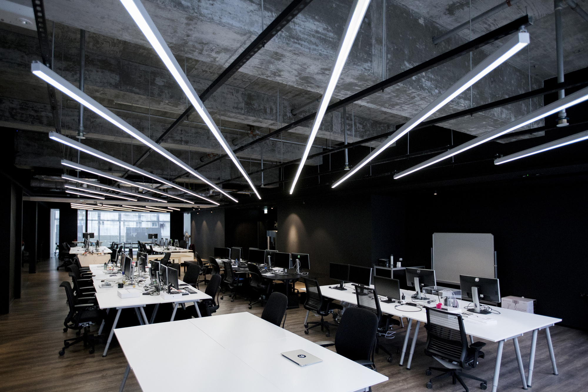 Hk open office space Coworking Offices Courtesy Of Laab Architects Beam Plus Online Exhibition Hkgbc 9gag Office Laab Architects Archdaily
