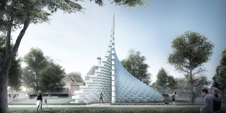 BIG presenta su diseño para el Serpentine Pavilion 2016, Pavilion design by BIG. Image Courtesy of BIG