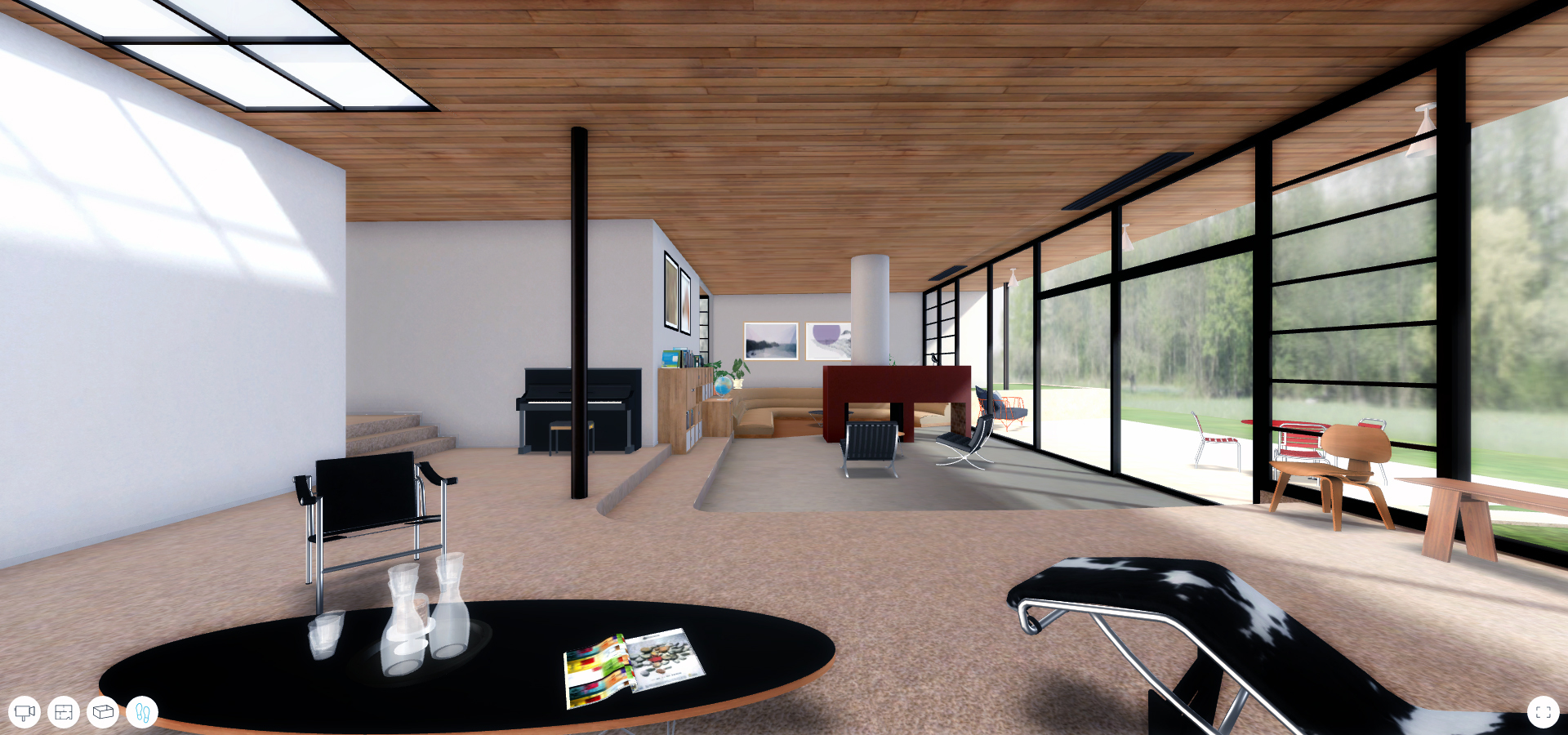 A Virtual Look Into Eames And Saarinen S Case Study House