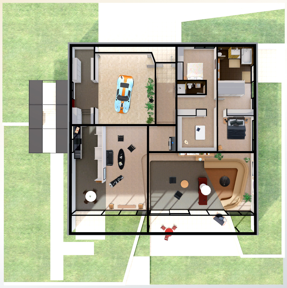 Gallery of a virtual look into eames and saarinen 39 s case for Case study house 8 floor plan