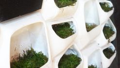 This Modular Green Wall System Generates Electricity From Moss