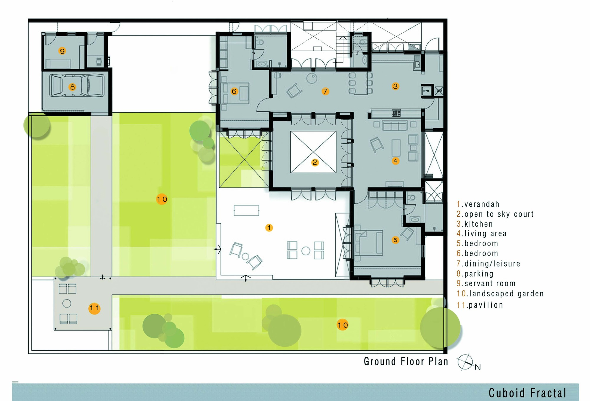 Cuboid Fractal / Greyscale Design Studio | ArchDaily