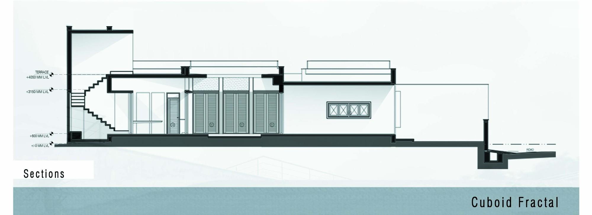 Gallery Of Cuboid Fractal Greyscale Design Studio 12