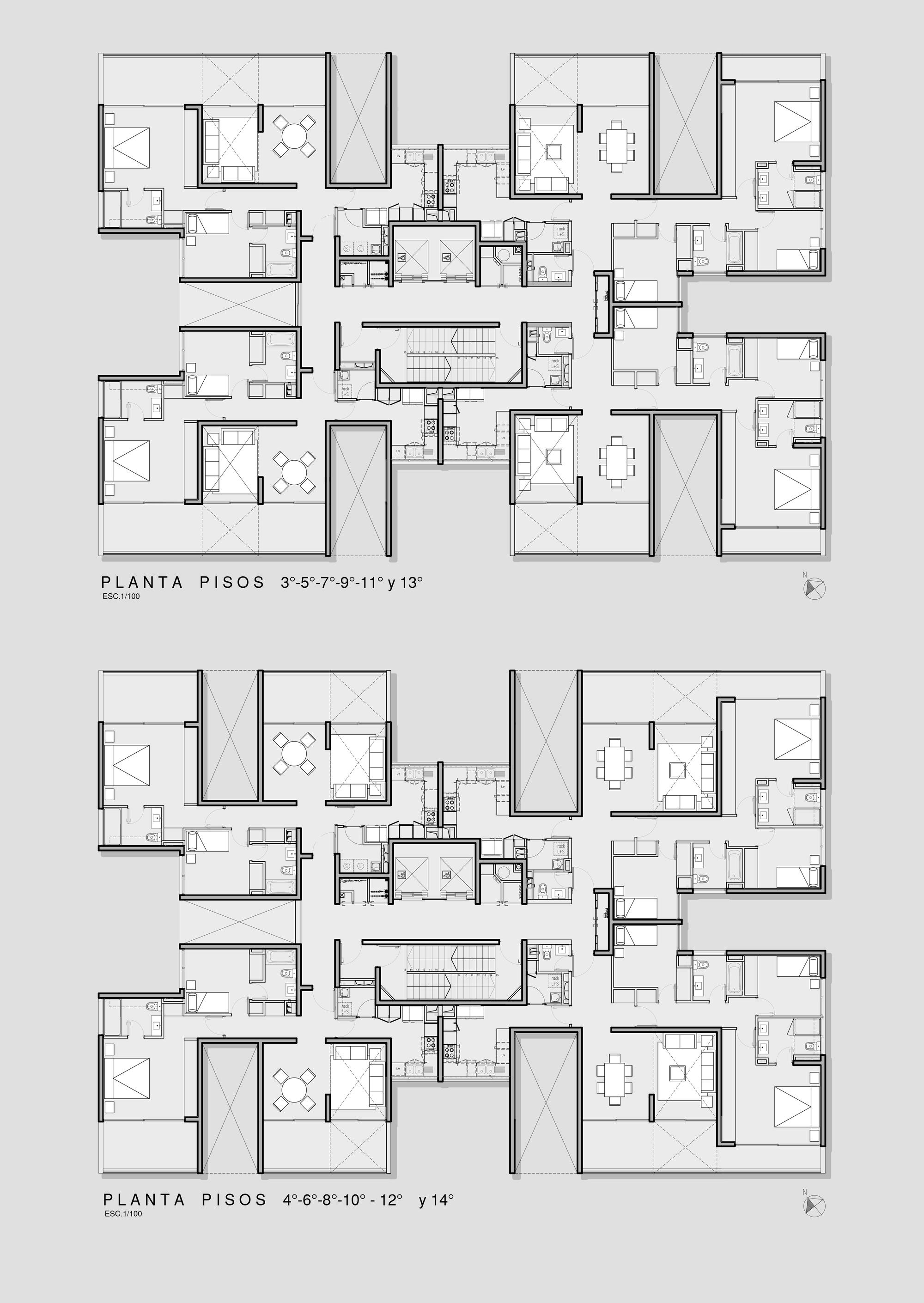 Gallery of ludwig ii eugenio simonetti renato stewart 8 for Residential house design plans