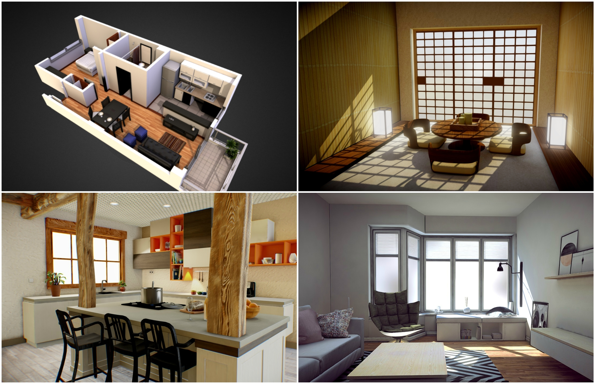 7 examples of how to show off interiors in your 3d models for House interior design event