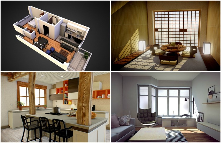 7 Examples Of How To Show Off Interiors In Your 3d Models As Selected By Sketchfab Archdaily
