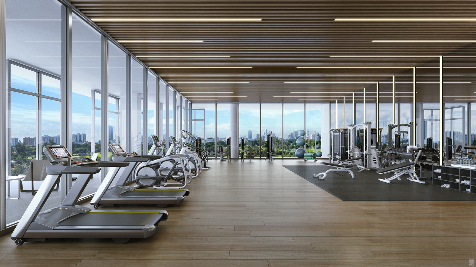 Ricardo Bofill Makes Us Inium Debut With 3900 Alton In Miami Beach Fitness Amenities Rendered