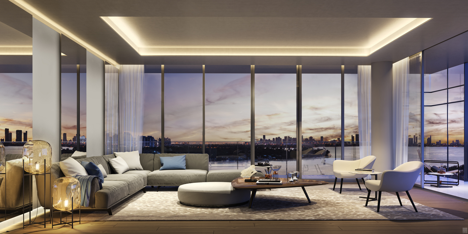 Ricardo Bofill Makes US Condominium Debut With 3900 Alton In Miami Beach,Living  Room Interior