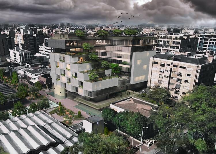 Luis Calderón + Roswell Garavito, segundo lugar en concurso de nueva Sede UNIANDINOS, Cortesía de Luis Calderón Arquitectura