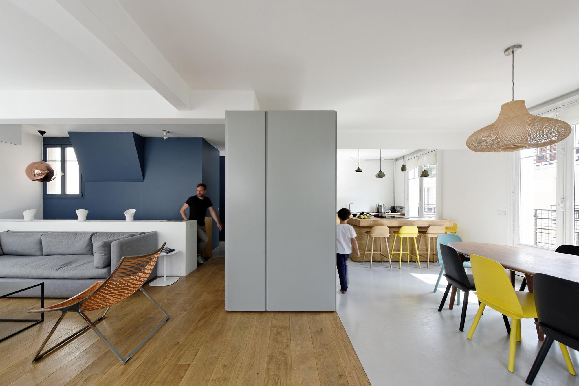 Duplex paris 16 ulli heckmann eitan hammer archdaily for Meine wohnung click design download