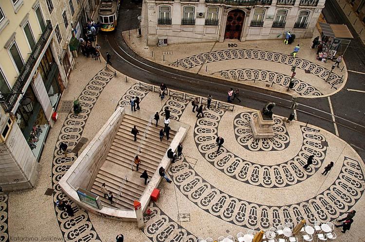 Até 2017 Lisboa perderá um de seus ícones urbanos: a calçada portuguesa, Fonte:Reddit