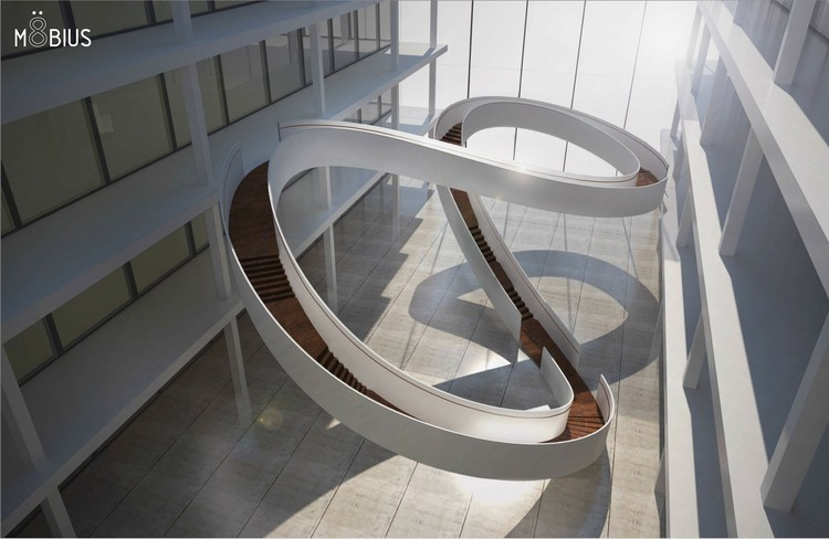 EeStairs Competition Winners Announced, Möbius, Winner Corporate Staircase Category. Image Courtesy of Ee Stairs