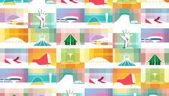 Las grandes obras de Óscar Niemeyer ilustradas por Petterson Dantas