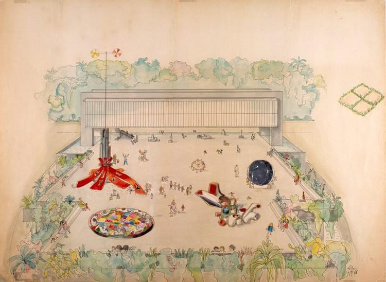 """MASP apresenta o projeto """"Playgrounds 2016"""", Crédito da imagem: Lina Bo Bardi, """"Estudo preliminar – Esculturas praticáveis do Belvedere Museu de Arte Trianon"""", 1968. Coleção MASP"""