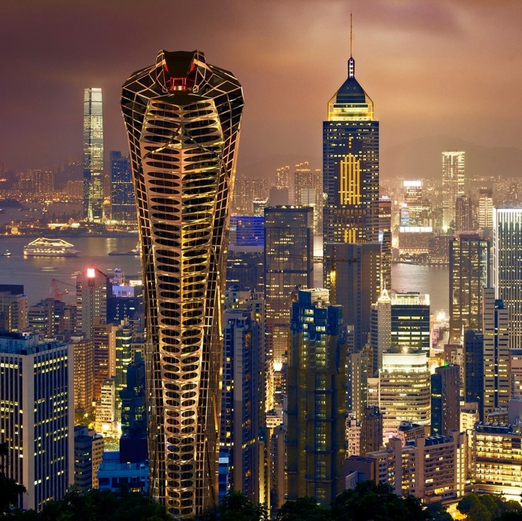 Vasily Klyukin Proposes Asian Cobra Tower, © Vasily Klyukin