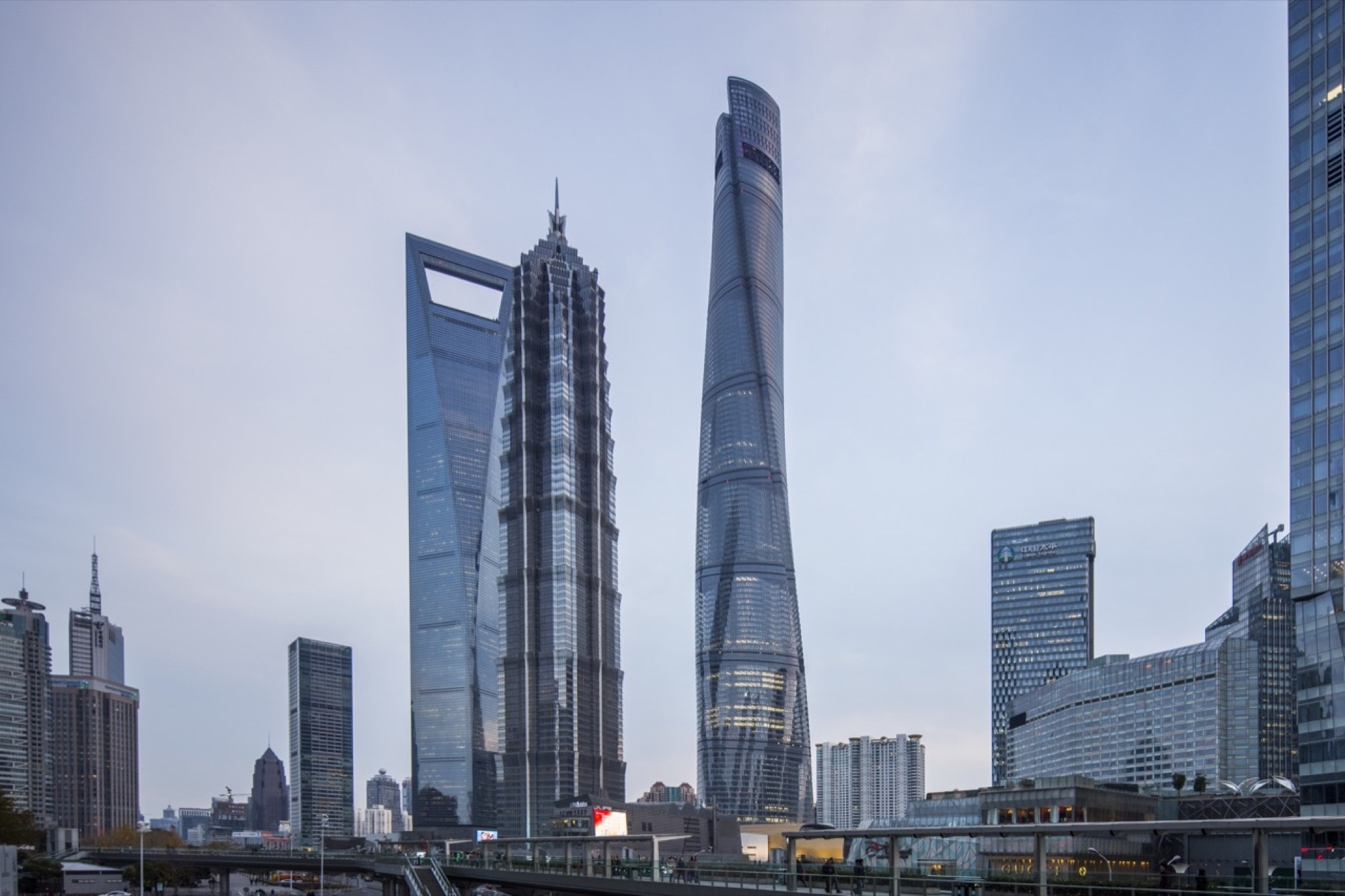 Shanghai Tower Gensler ArchDaily Amazing China Tallest Building Shanghai Tower Gets Final Beam