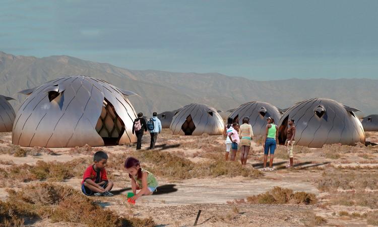 La Matriz: Módulo desplegable de emergencia creado por estudiantes peruanos, Cortesía de Pontificia Universidad Católica del Perú