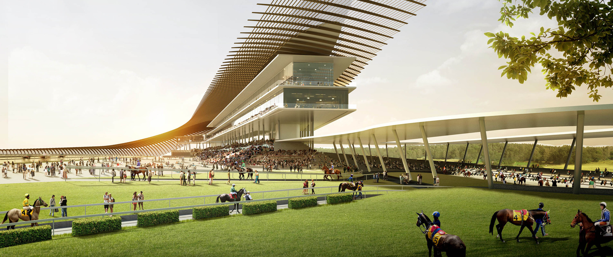 Now and grimshaw to design south korean horseracing track for Architecte corse