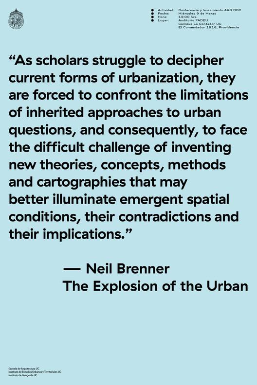 Seminario, Conferencia y Lanzamiento de Libro 'The Explosion of the Urban' por Neil Brenner
