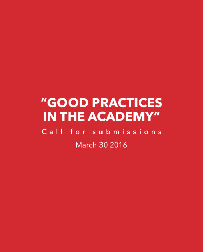 Call for Submissions: Good Practice in the Academy , announcement, university