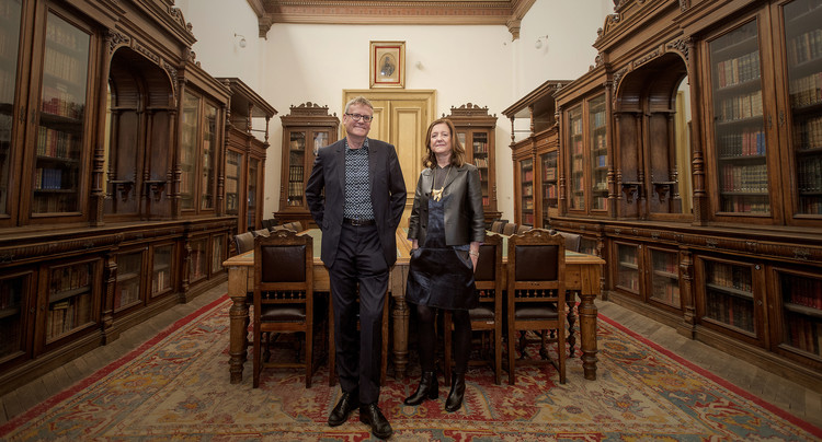 "Beatriz Colomina and Mark Wigley, Curators of the 2016 Istanbul Design Biennial, Discuss ""The Design of the Species"", Beatriz Colomina and Mark Wigley – Curators of the 3rd Istanbul Design Biennial (2016). Image © Muhsin Akgun"