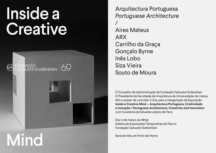 """Exposição """"Inside a Creative Mind"""" sobre arquitetura portuguesa"""