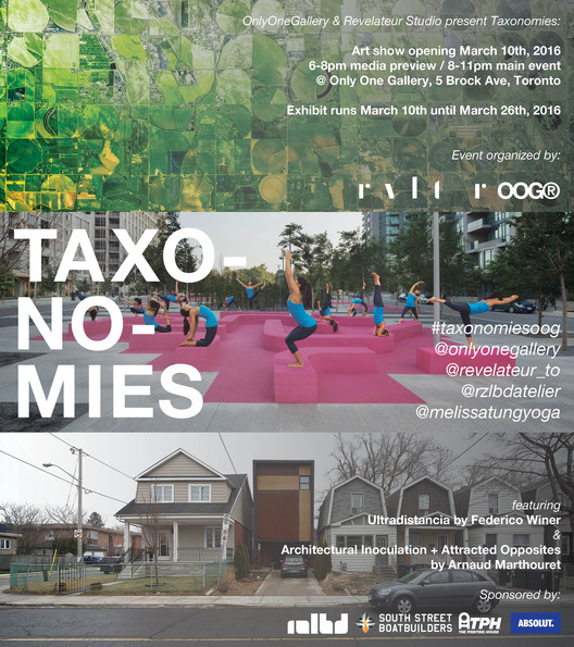 Exhibition Opening: Taxonomies, Opening invite