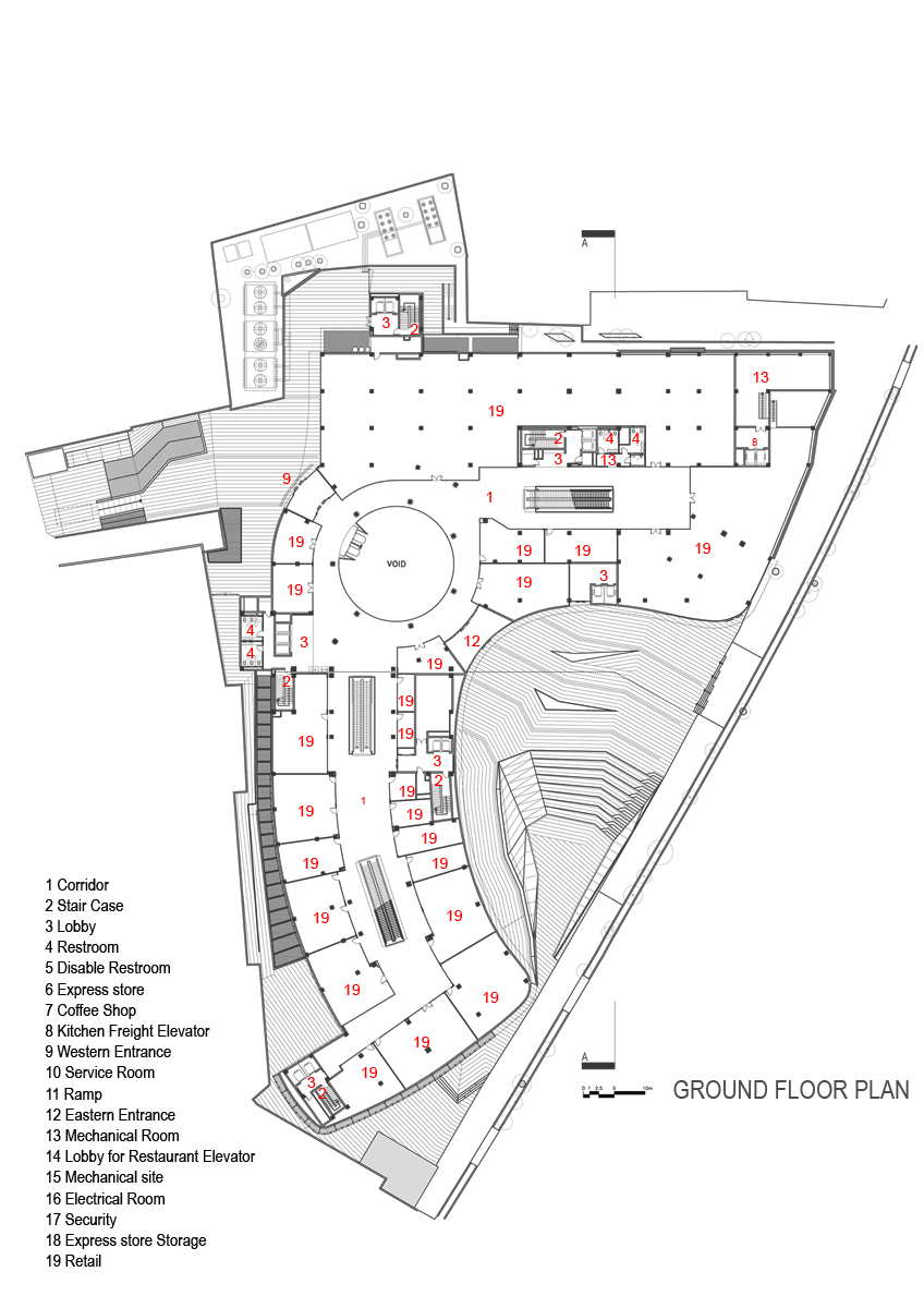 Gallery of arg shopping mall arsh 4d studio 25 for Site plan dimensions