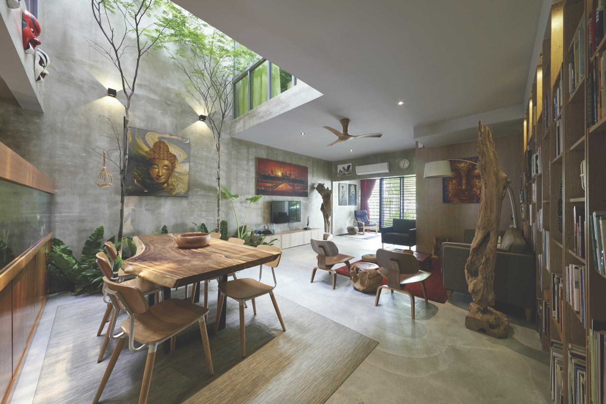 Terrace house renovation o2 design atelier archdaily Home architecture malaysia