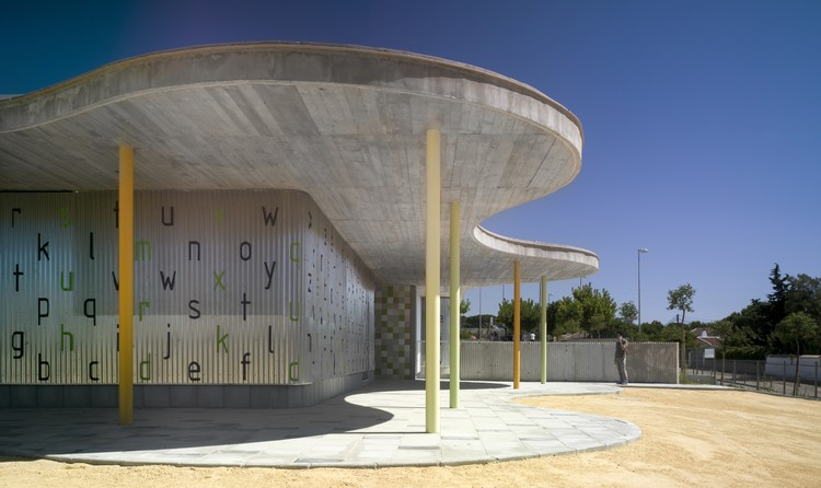 """Pabellón De Infantil Del Colegio Público """"La Barrosa""""  / Gabriel Verd, © Jesús Granada"""