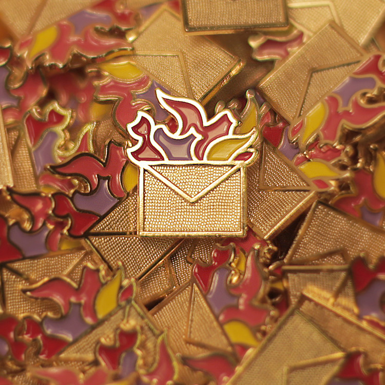 "London Architectural Debate Society ""Turncoats"" Goes Global, The Burning Envelope - The Universal Emblem of the Turncoats. Image Courtesy of Turncoats"