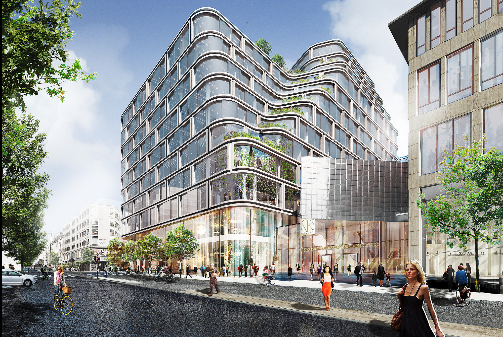 Schmidt hammer lassen designs mixed use development in for Stockholm appart hotel