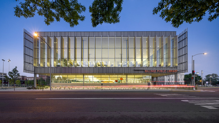 Billings Public Library Will Bruder Partners Archdaily