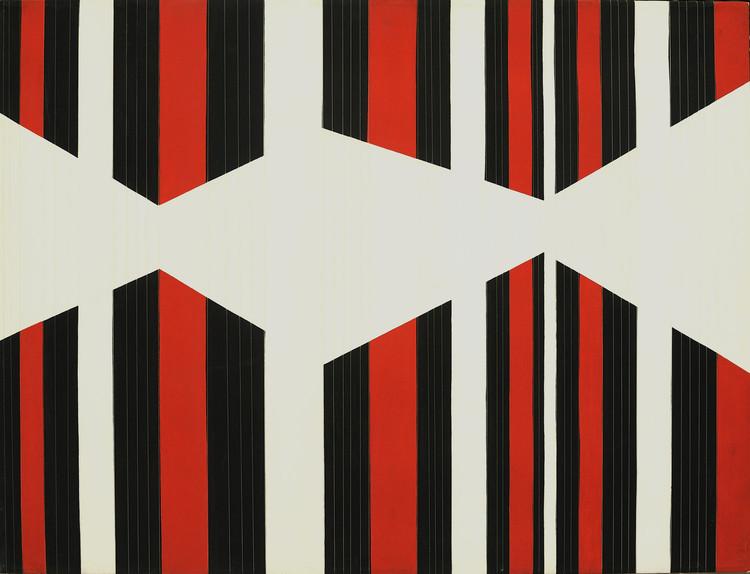 Olhar em Movimento – Linguagens da arte cinética italiana dos anos 1950-70, Francesco Guerrieri_Ritmo AB 1_1965_Acrílico e fios de nylon sobre tela_100X130cm_Courtesy of Concetta Guerreiri