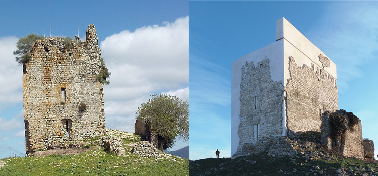 Cádiz Castle Restoration: Interesting Interpretation or Harmful to Heritage?, Before and After. Image via Leandro Cabello | Carquero Arquitectura